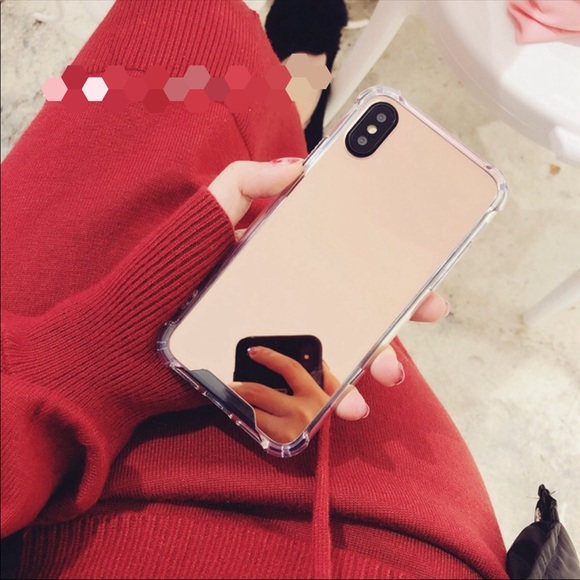 size 40 5a1a5 06345 For iPhone X rose gold mirror case